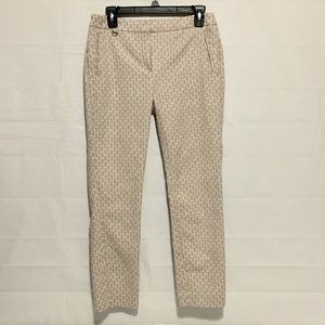Adrianna Papell Pants - Adrianna Papell Brown White Skinny Pants Womens 4